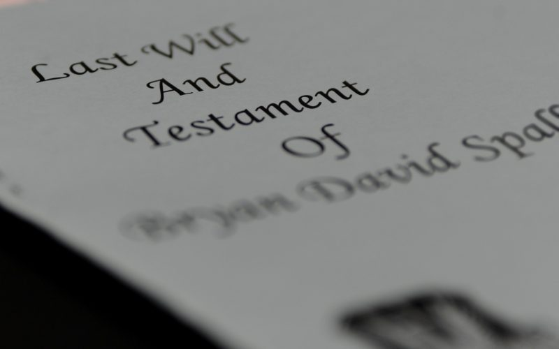 """A document with the text reading """"Last Will And Testament"""""""